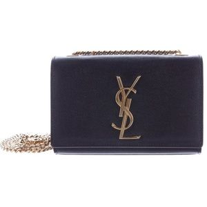 Yves Saint Laurent Monogram Leather Crossbody Bag